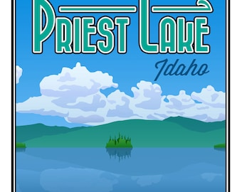"Priest Lake, ID Poster Print - Large (16"" x 20"")"