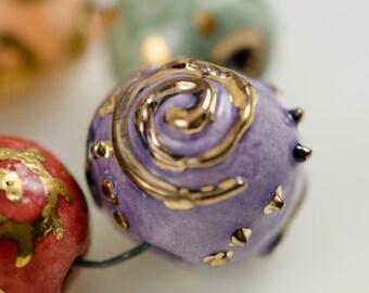 Swirltastic...Ceramic Artisan Beads