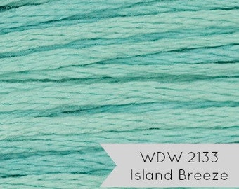 Weeks Dye Works Embroidery Floss | Hand Over-Dyed 6-strand Embroidery Thread - Island Breeze (2133) | Hand Embroidery, Cross Stitch