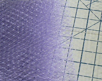 lavender veil - purple birdcage veil - hat making veil