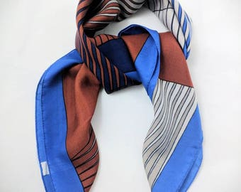 A Dance of Squares - art deco square scarf