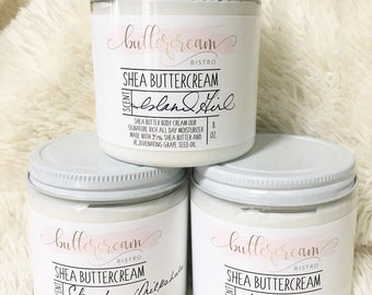 Shea Buttercream, Body Cream, Lotion, Skin Care, Beauty, Bath and Beauty, Moisturizer, Beauty Bakery, Shea Butter, Grapeseed Oil