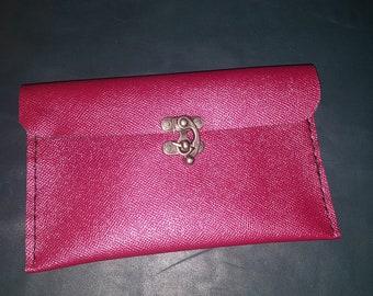 Shiny  pink clutch
