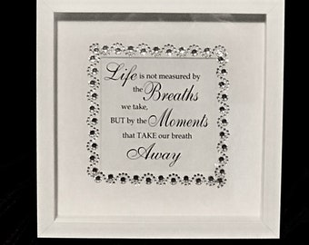 Life Quotes frame, wall hanging