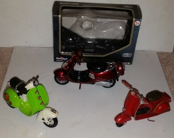 3 collectable scooters
