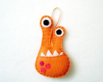 Monster Ornament, Alien Ornament, Christmas Ornament, Dr. Phloo the Eyestalk Monster, Felt Animals