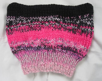Pussyhat — P_ssyhat — Knit Cat-Ears-Hat — Kitty-Ears Hat — Protest Pussyhat —Tweed Pussyhat — Pink Pussyhat — Women's March Pussyhat Beanie