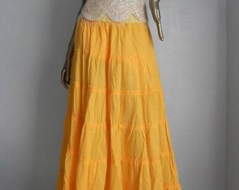 sunshine kid ~ yellow maxi skirt