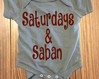 Football Onesie- Saturdays & Saban- Football- Football Season- College Football