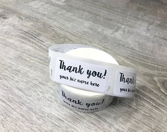 "Custom Thank You labels 1"" personalized business logo thank you stickers thank you packing stickers labels custom logo label 100-150-250-500"