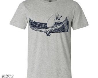 Mens MANATEE in a Canoe t shirt s m l xl xxl (+ Color Options) custom