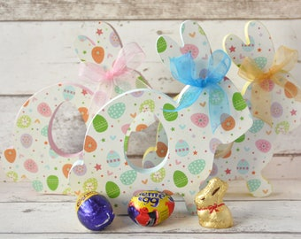 Personalised Easter Bunny | Easter Basket Filler | Custom Bunny Egg Holder | My First Easter | Easter Bunny Keepsake |