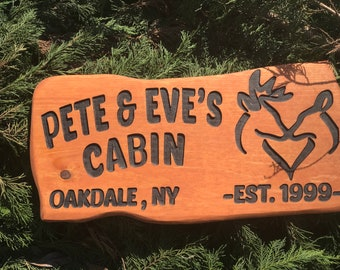 Cabin Signs | Family Name Sign | Custom Cabin Sign | Lakehouse Sign, Lake House Sign, Wooden Last Name Sign,