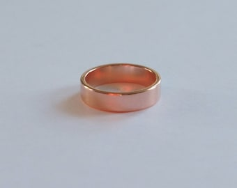 Copper Ring, Copper Band, Size 8, 4.9mm, Stamping Ring, Promise Ring, Birthday Gift, Christmas Gift, Fast Shipping from USA