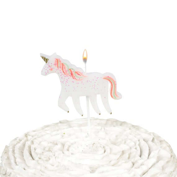Mythical Tales Unicorn Candle Topper, Decorative Unicorn Cake Topper, Unicorn Decor, Unicorn Birthday Candle, Magical Candle Fantasy Dessert