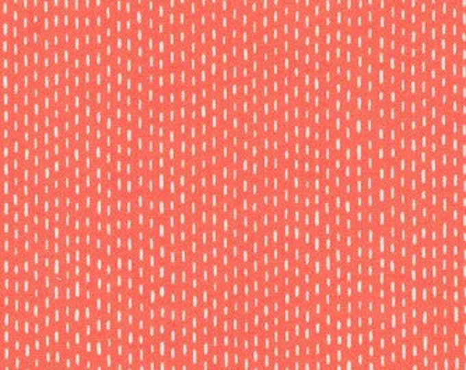 Cats & Dogs by Michael Miller - Tiny Stitches Coral - Cotton Woven Fabric