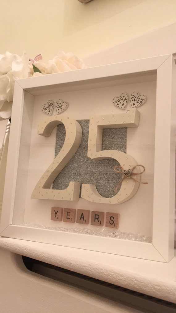 Personalised 25th Wedding Anniversary Frame