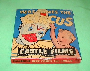 Here Comes the Circus 16mm projection film in original box NEVER played Castle Films classic cartoon kids