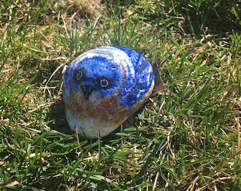 Painted Rock Garden Bluebird/ Home Accent