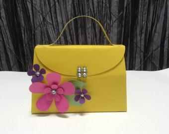 10 pc purse favor box, paper purse.