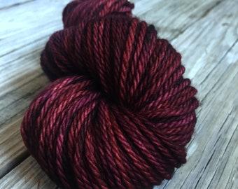 You Had Me At Merlot Wine Yarn hand dyed Bulky Yarn 100% superwash merino wool 106 yards Big Treasures Bulky Weight Yarn brick red wine yarn