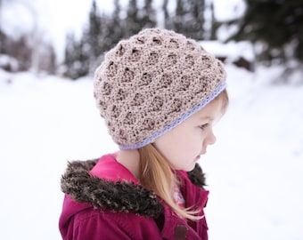 Crochet Hat Pattern - Little Trellis Hat (adult to baby sizes)