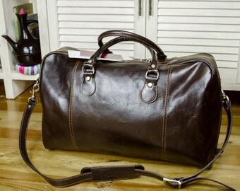 Leather duffel bag, Travel bag, Overnight bag, Weekender bag, Leather duffle bag, Duffel bag, Gym bag - Monte Cristo