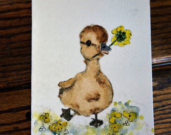 """Original Hand Painted Watercolor Notecards - Baby Animals - """"Theo and Friends"""" Line, Greeting cards, Artwork, Nursery art, Baby shower, Gift"""