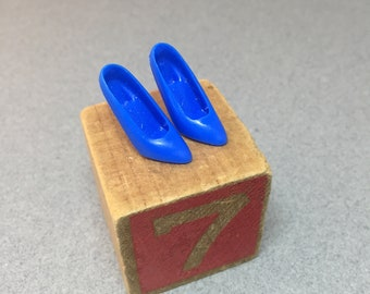 Barbie Royal Blue Pumps - Closed Toe Heels - Made in China