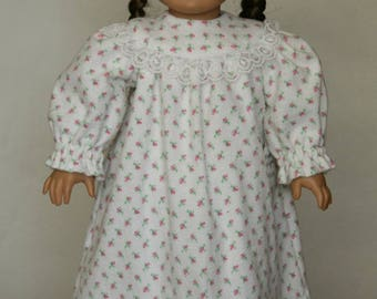 American Girl Flannel Nightgown with Slippers