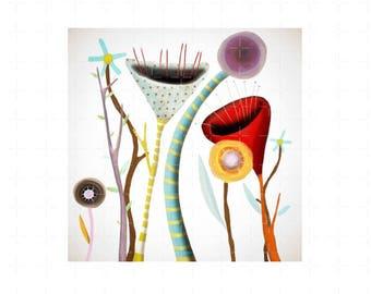 Canvas Art - Ruth Fitta-Schulz Whimsical Landscape
