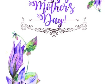 Mother's Day Instant Download Card Supporting Epilepsy Association of Calgary