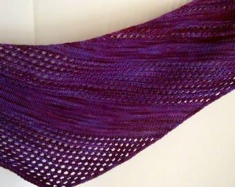 Hand dyed Purple Triangular Wrap