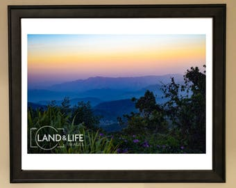 Colourful Hillside View Lustre Print