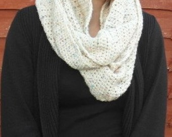 A Warm and Cosy Aran Infinity Scarf