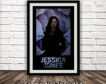 Marvel's Jessica Jones-Inspired Poster - Minimalist, Fan Art