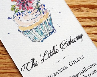 Bakery business card etsy cupcake business card bakery reheart Gallery