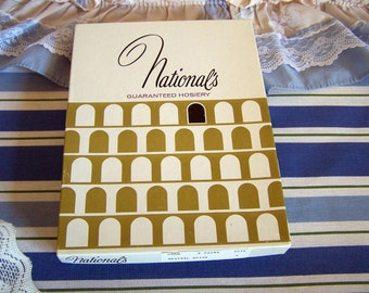 Vintage Nylon Hosiery Nationals Lot of 5 Pairs Of Hoses in Brand New Condition Neutral Beige Size C