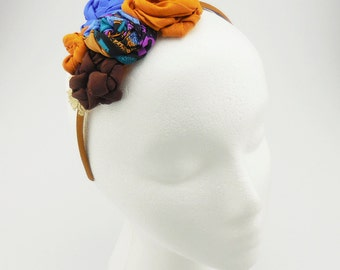 Flower Headband (brown, blue, black)