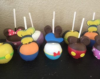12 Mini Clubhouse Chocolate Dipped Apples