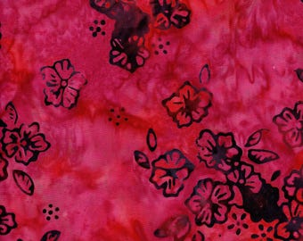 RJR Fabric Blossom Batiks Batiks 3099 1 Pink Flowers By The Yard