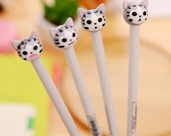 Set Of 4 Kawaii Cat Pens -  Novelty Cat Pen