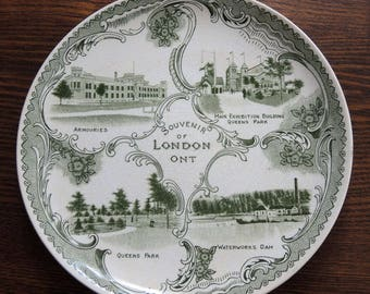 London, Ontario Souvenir Plate Vintage