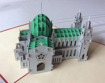 GALWAY CATHEDRAL Pop Up Card