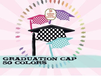 Graduation clipart clip art, college clipart clip art, high school clipart clip art polka dot : c0287 v301 50