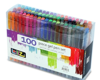 LolliZ® 100 Gel Pens Set, 100 Unique Color Choices!
