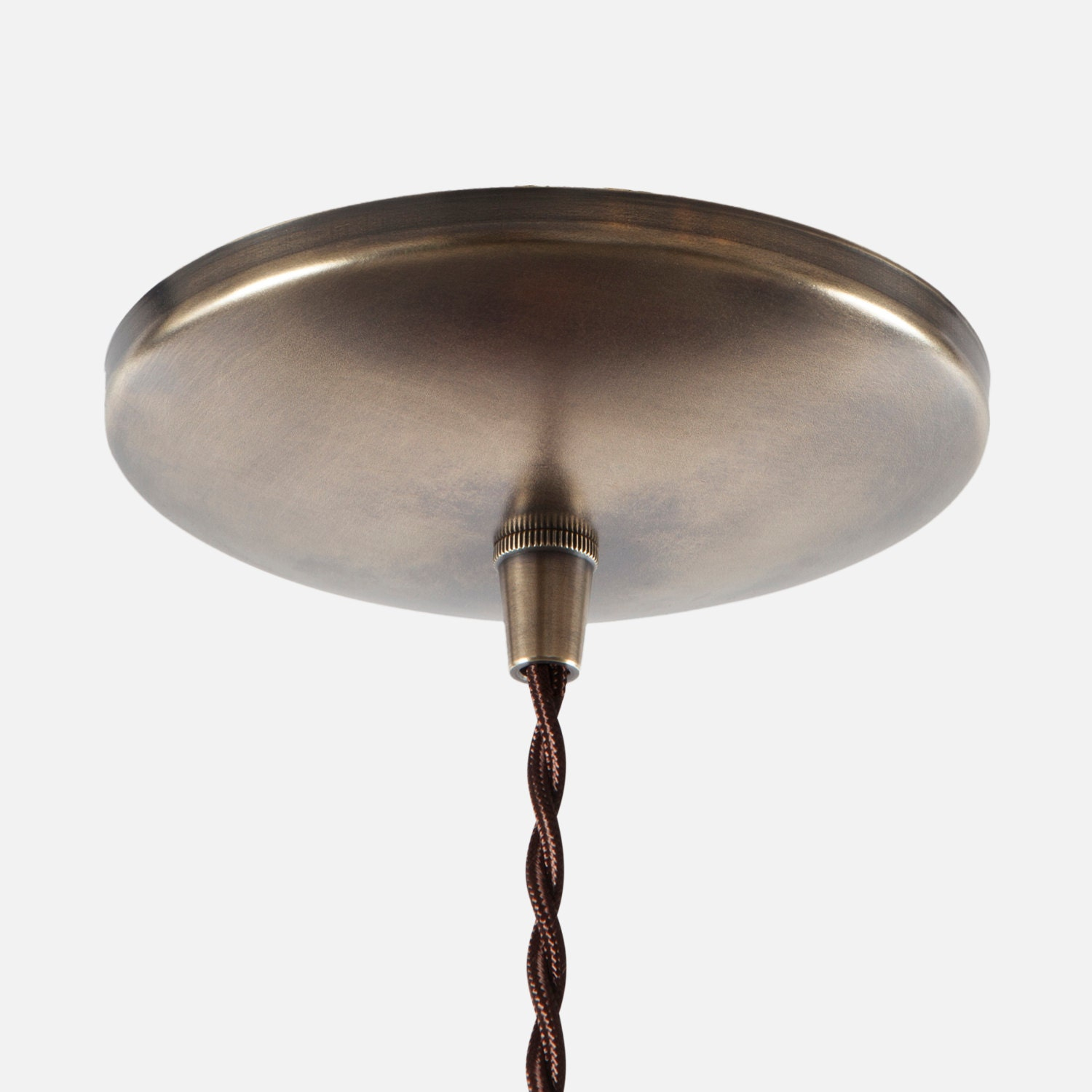 Dome Ceiling Canopy Kit Vintage Brass Pendant Light
