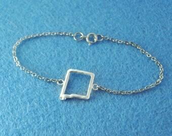 Custom Map Bracelet, Custom NewMexico pendant Personalized Map Bracelet, NewMexico pendant,custom map jewelry,NewMexico map bracelet