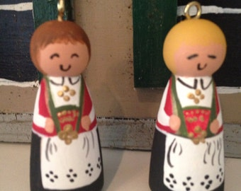 Norwegian Bunad Girl Ornament Small