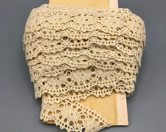 Vintage Crocheted Lace Trim 3+ Yards